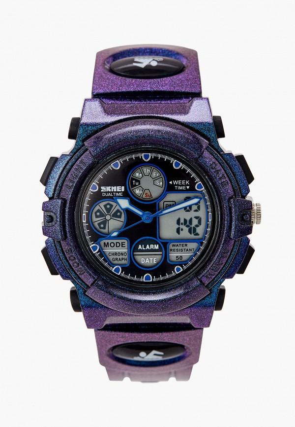 часы skmei для мальчика, фиолетовые