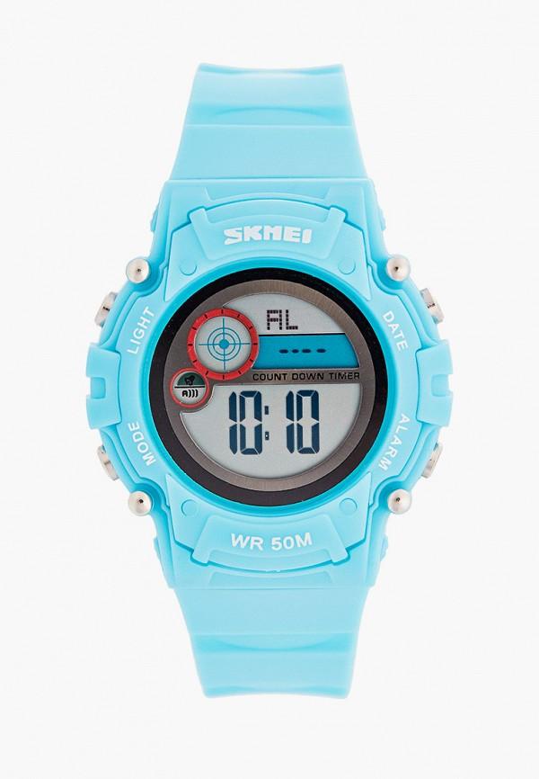 часы skmei для мальчика, голубые