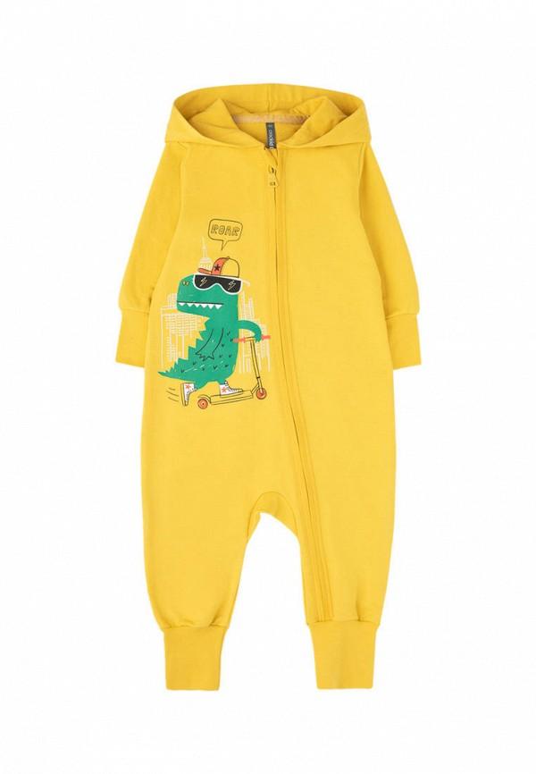 комбинезон с брюками crockid для мальчика, желтый