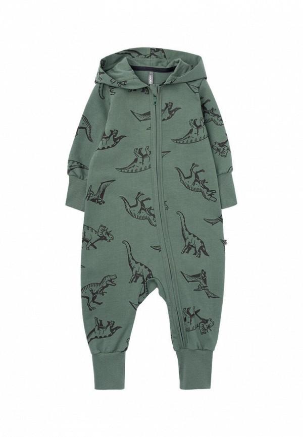 комбинезон с брюками crockid для мальчика, зеленый