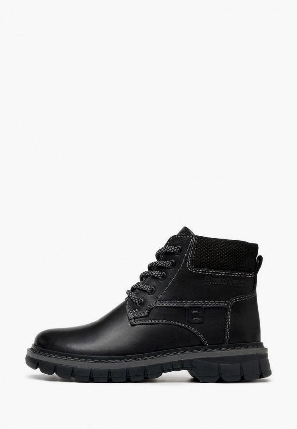 ботинки alessio nesca для мальчика, черные