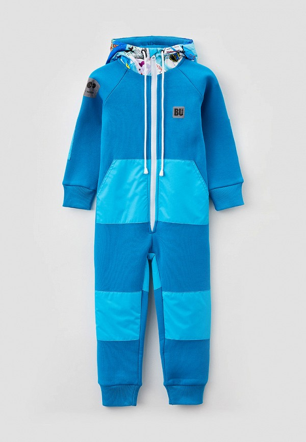 комбинезон с брюками bukidz для мальчика, голубой