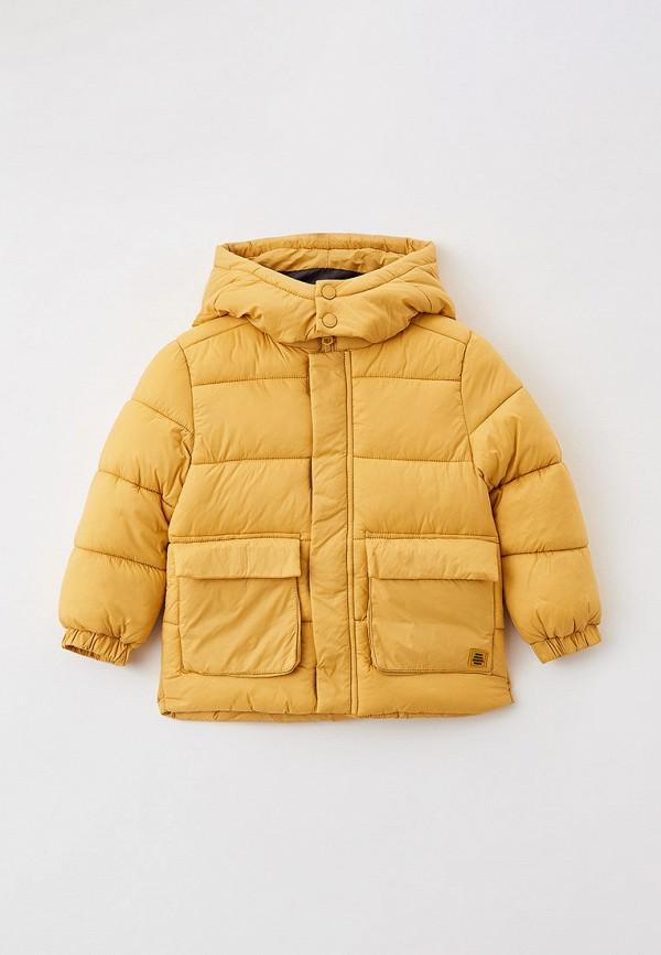 утепленные куртка sela для мальчика, желтая