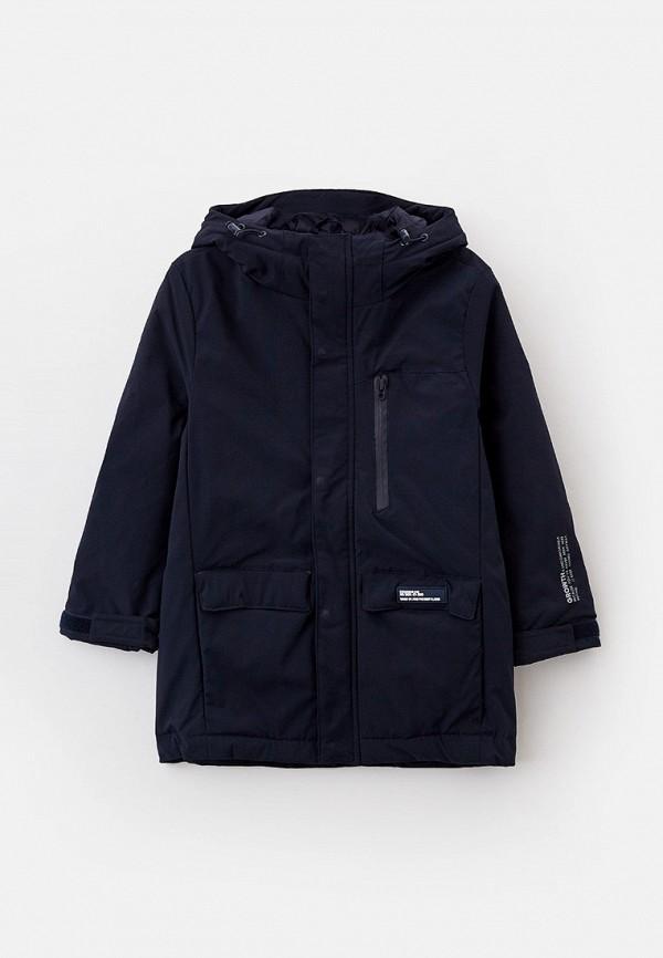 утепленные куртка sela для мальчика, синяя