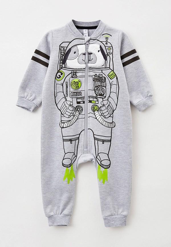 комбинезон с брюками playtoday для мальчика, серый