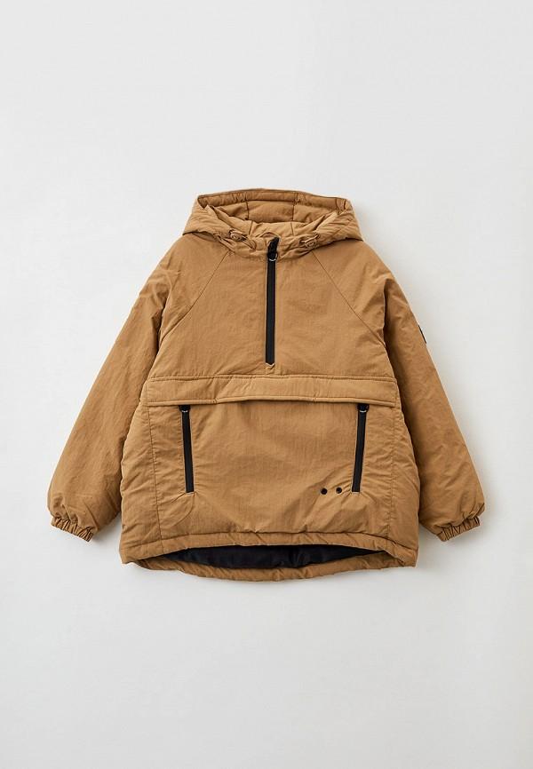 утепленные куртка sela для мальчика, коричневая