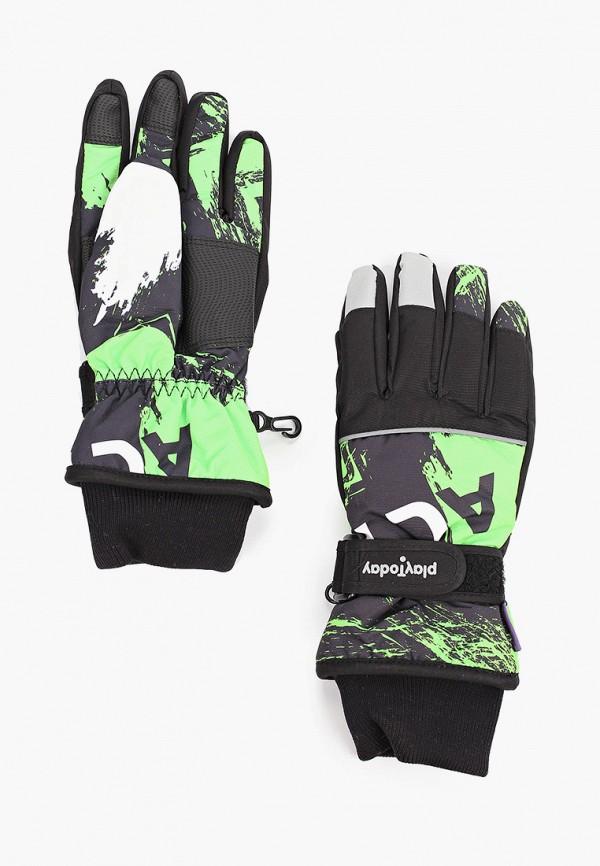 перчатки playtoday для мальчика, зеленые