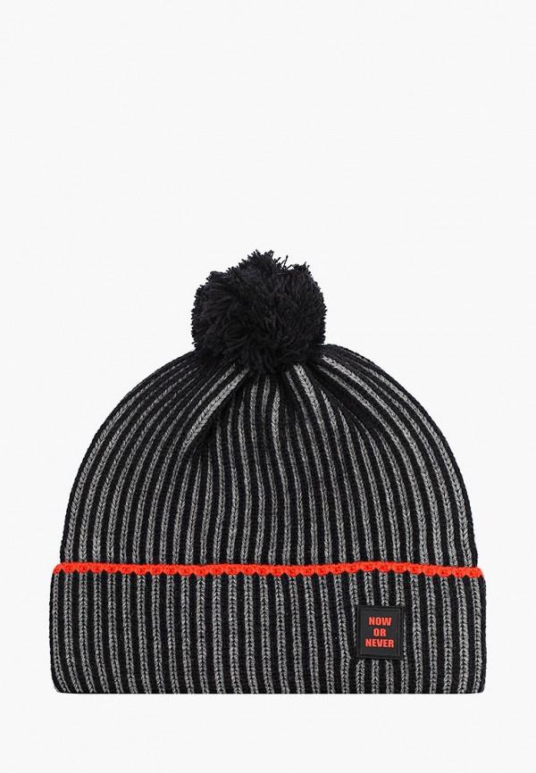 шапка demix для мальчика, серая