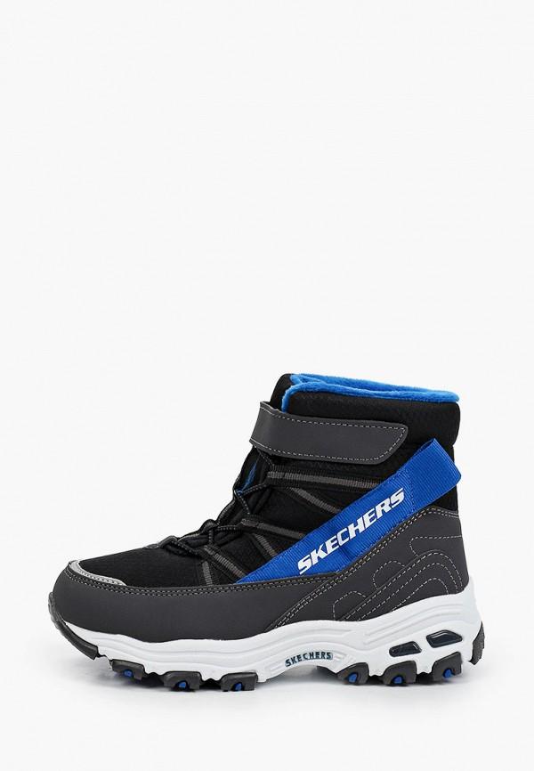 ботинки skechers для мальчика, черные