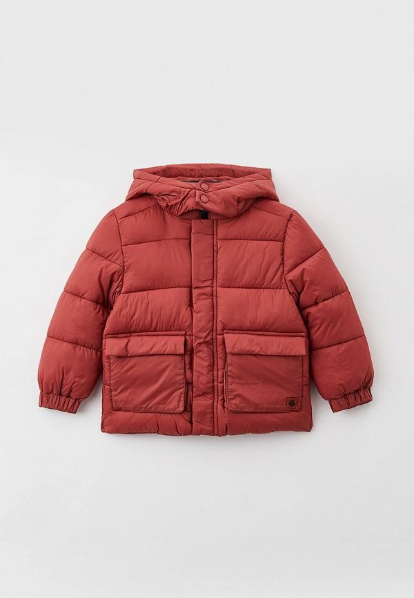 утепленные куртка sela для мальчика, розовая