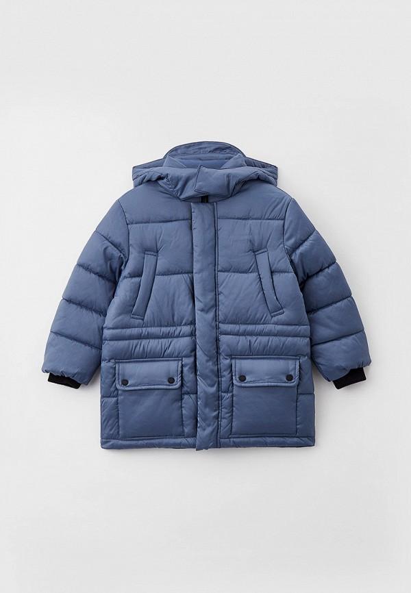 утепленные куртка sela для мальчика, серая