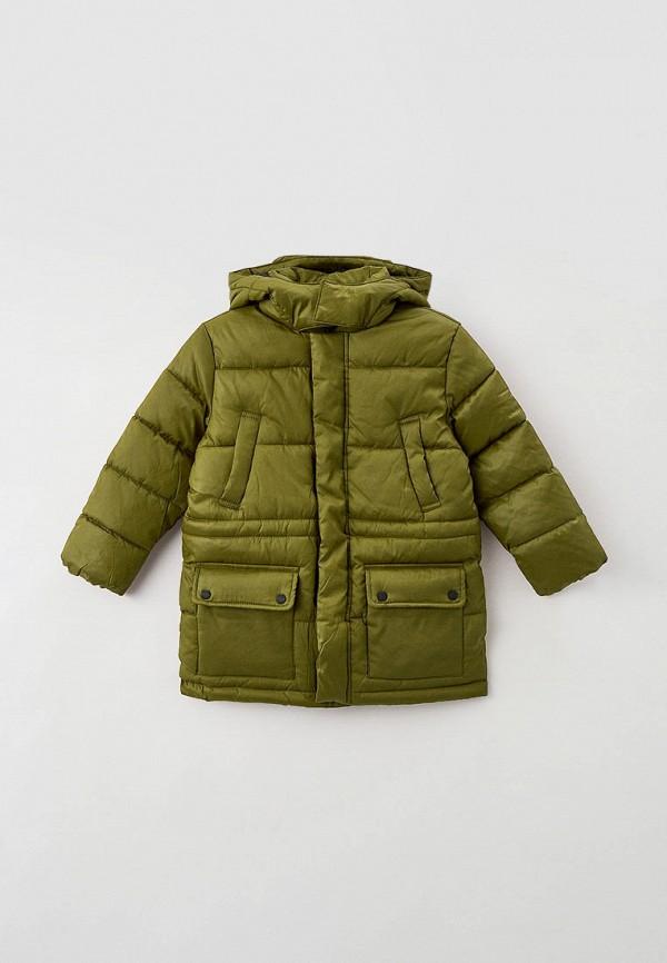 утепленные куртка sela для мальчика, хаки