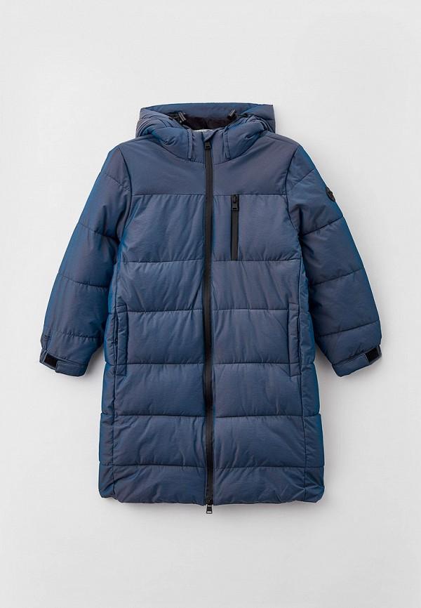 утепленные куртка sela для мальчика, бирюзовая