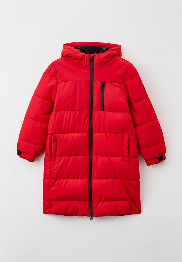 утепленные куртка sela для мальчика, красная