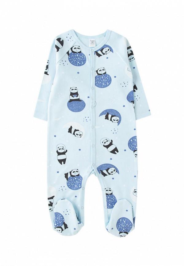 комбинезон с брюками crockid для мальчика, голубой