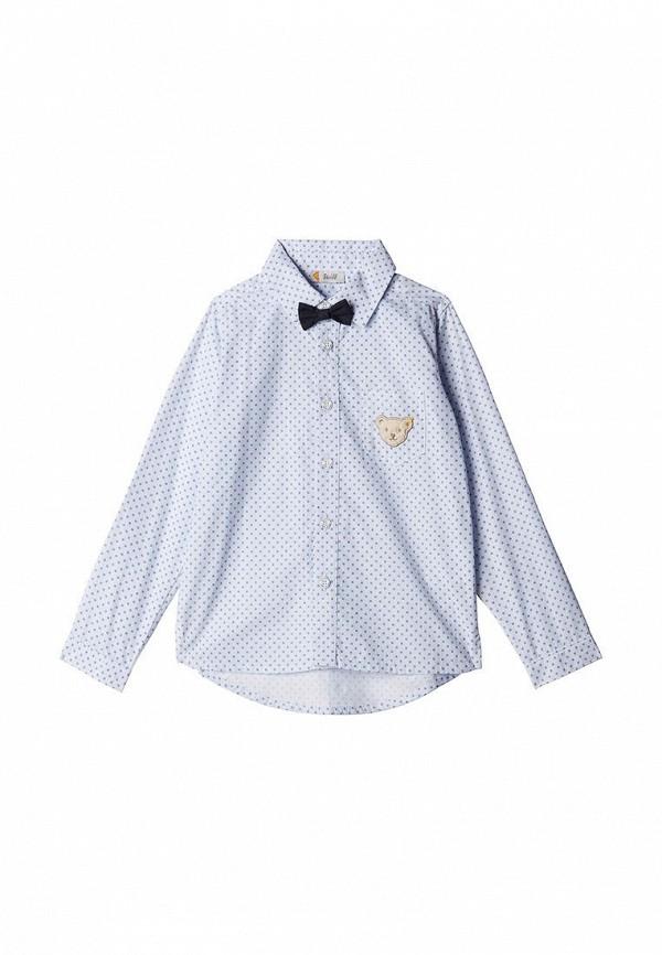 рубашка steiff для мальчика, голубая