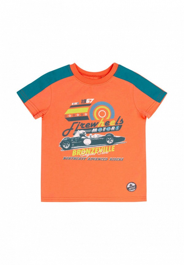 футболка с коротким рукавом бемби для мальчика, оранжевая