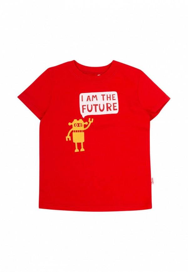 футболка с коротким рукавом бемби для мальчика, красная