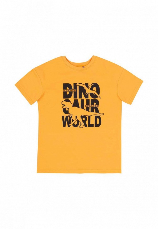 футболка с коротким рукавом бемби для мальчика, желтая