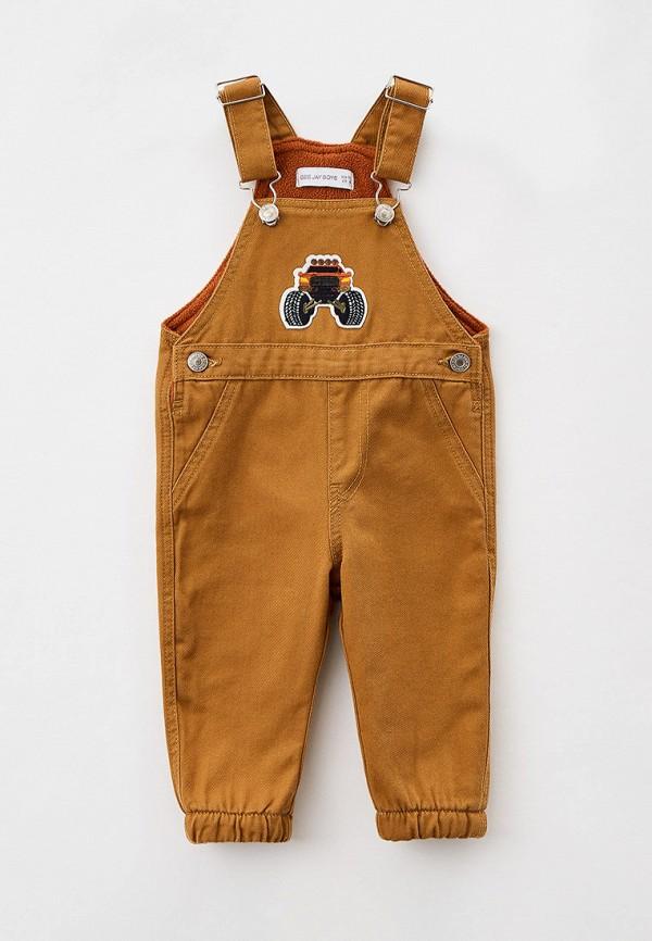 комбинезон с брюками gloria jeans для мальчика, коричневый