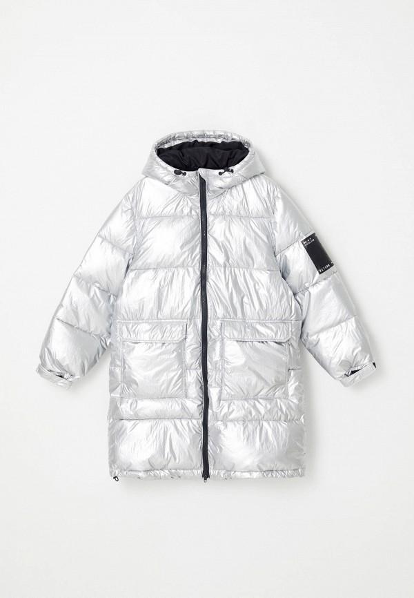 утепленные куртка sela для мальчика, серебряная