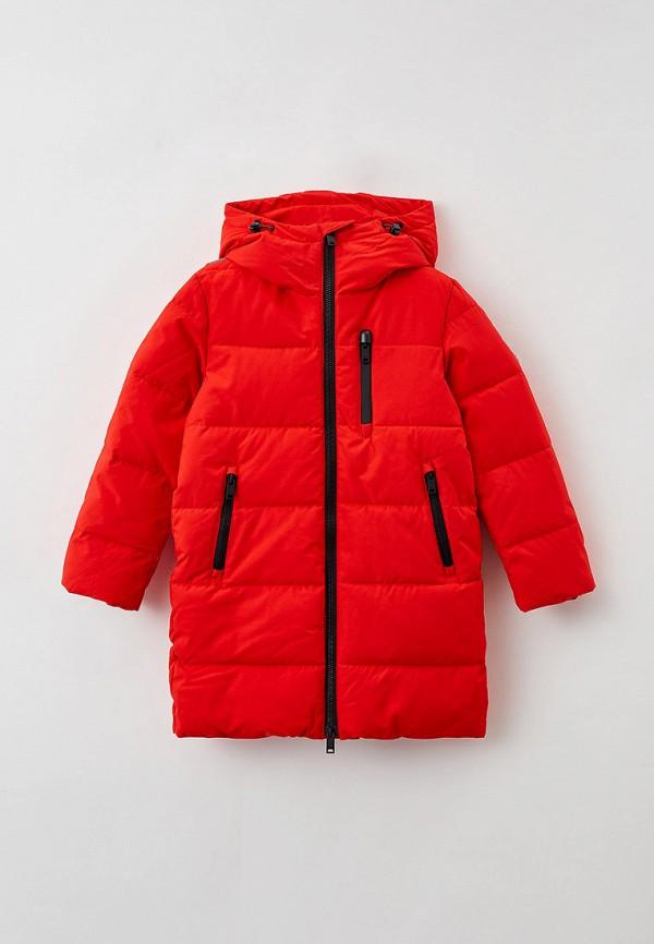 утепленные куртка baon для мальчика, красная