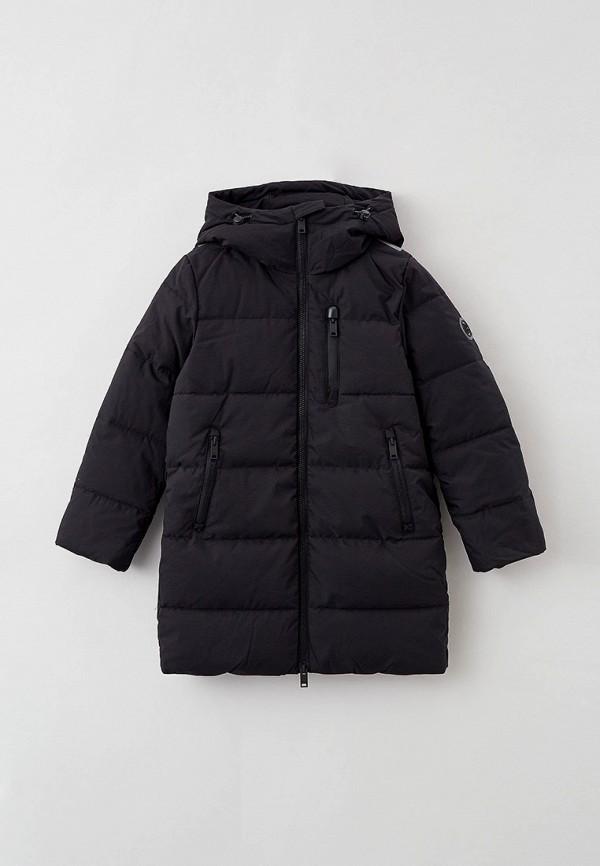 утепленные куртка baon для мальчика, черная