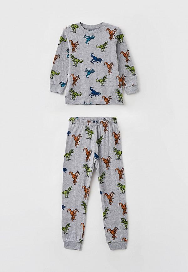 пижама baon для мальчика, серая