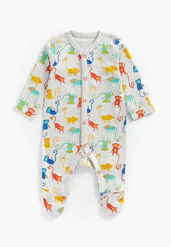 комбинезон с брюками mothercare для мальчика, серый