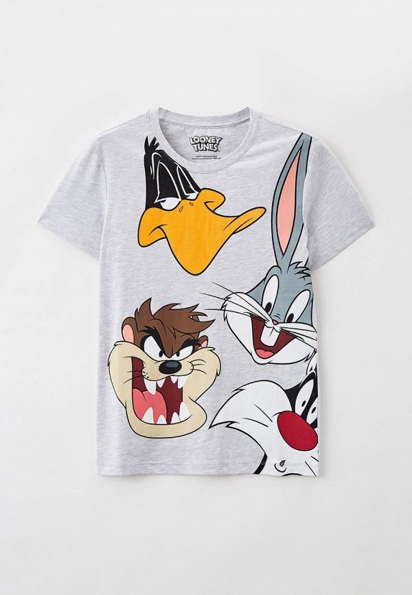 футболка с коротким рукавом crazy getup для мальчика, серая