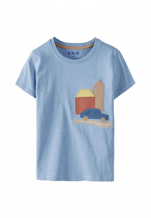 футболка с коротким рукавом 5.10.15 для мальчика, голубая