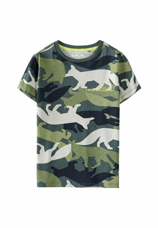 футболка с коротким рукавом 5.10.15 для мальчика, зеленая