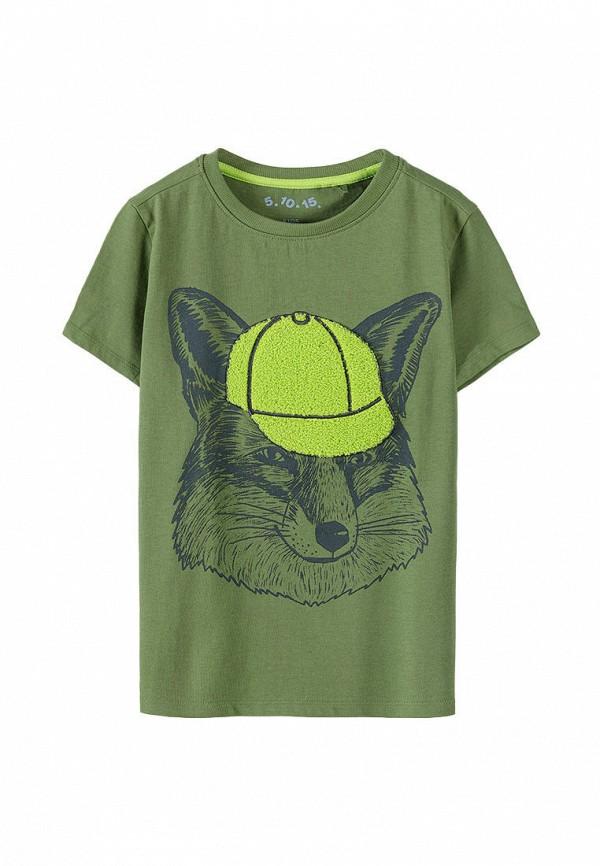 футболка с коротким рукавом 5.10.15 для мальчика, хаки