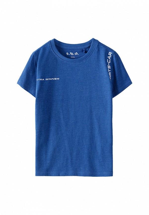 футболка с коротким рукавом 5.10.15 для мальчика, синяя
