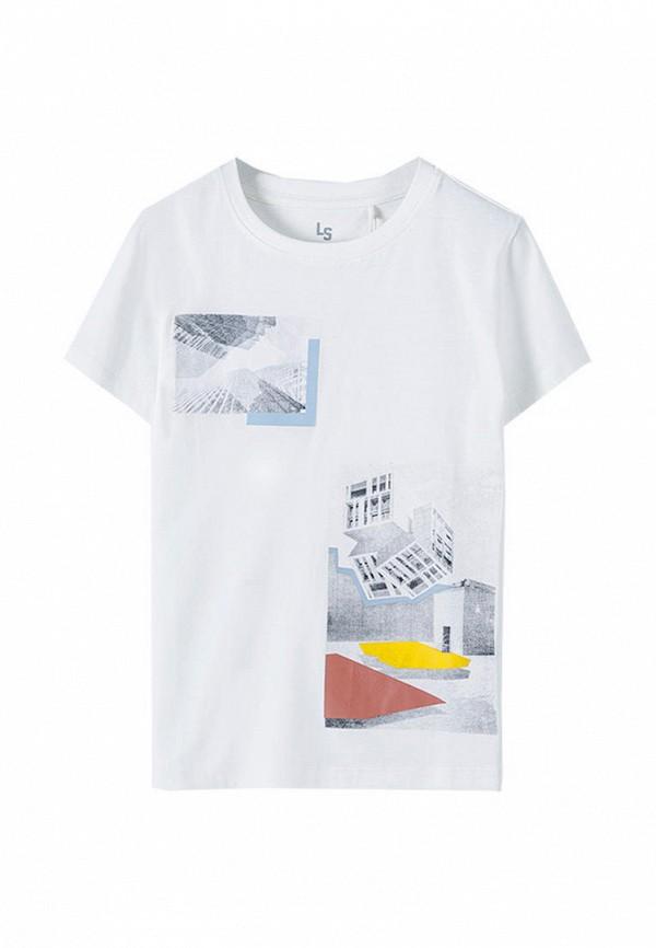 футболка с коротким рукавом 5.10.15 для мальчика, белая