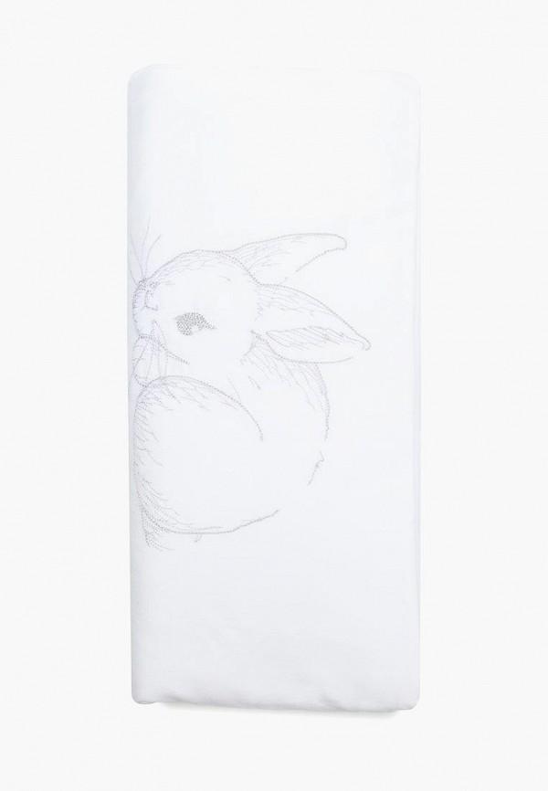 Купить Grey Bunny, Постельное белье детское Cloud factory, белый, children, Весна-лето 2018, Детское постельное белье
