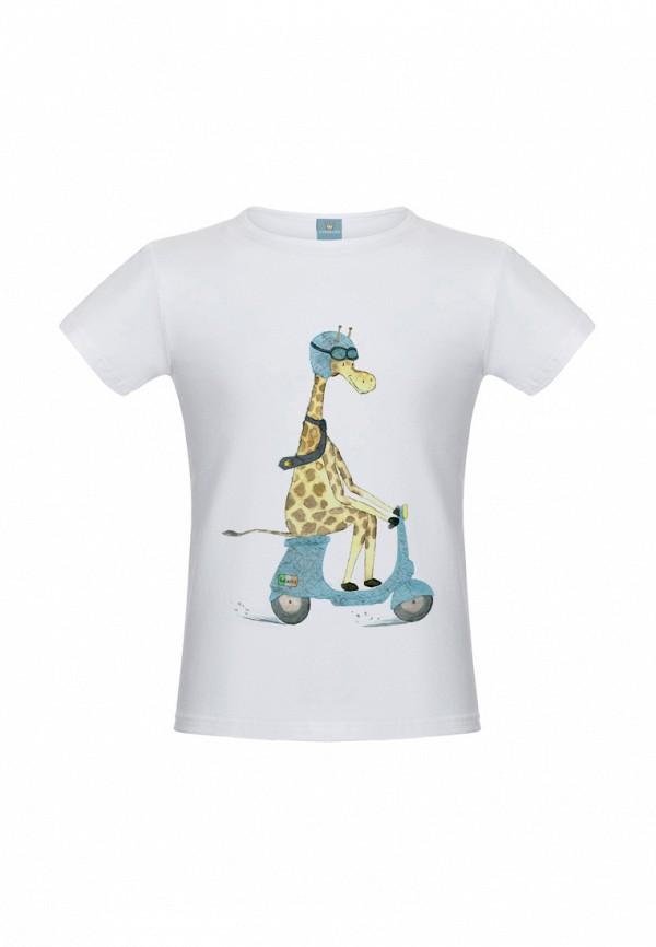 футболка с коротким рукавом lisa&leo малыши, белая