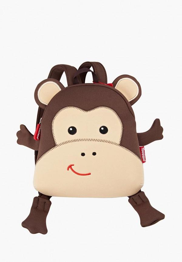 рюкзак yookidoo малыши, коричневый