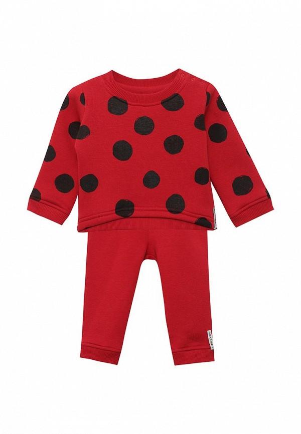 Костюм спортивный для девочки COOCKOO цвет красный