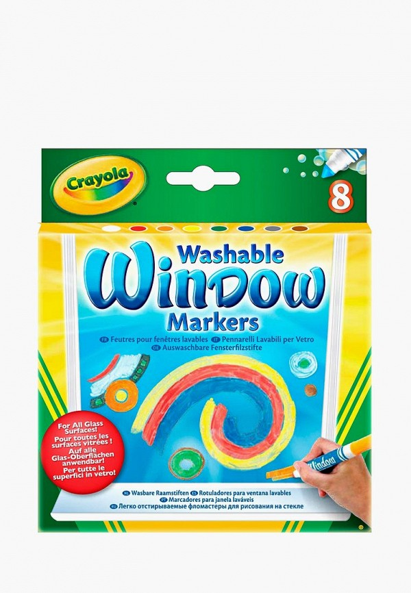 Купить Набор игровой Crayola, Фломастеры для рисования на стекле 8 шт., mp002xc0030g, разноцветный