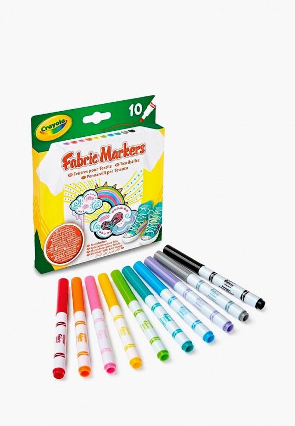 Купить Набор игровой Crayola, 10 фломастеров для рисования по ткани, mp002xc0037g, разноцветный