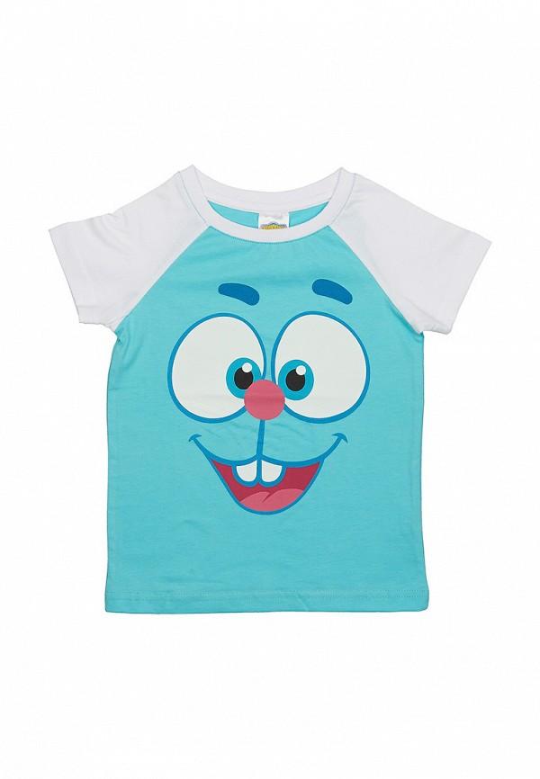 футболка с коротким рукавом frutto rosso малыши, голубая