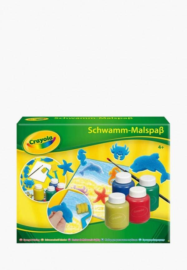 Купить Набор для творчества Crayola, Набор для рисования гуашью со штампами и валиком, mp002xc003uk, разноцветный