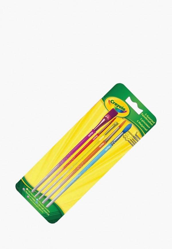 Купить Набор для творчества Crayola, 5 кисточек для рисования красками, mp002xc003xx, разноцветный