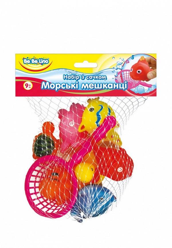 """Игрушка для ванны BeBeLino, Набор игрушек для купания с сачком """"Морские жители, Разноцветный"""