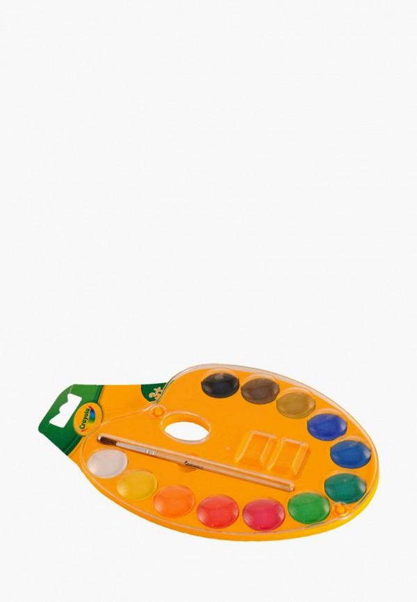 Купить Набор для творчества Crayola, 12 акварельных красок для рисования, mp002xc00428, разноцветный