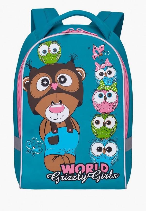 рюкзак grizzly малыши, бирюзовый