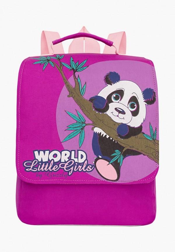 рюкзак grizzly малыши, фиолетовый