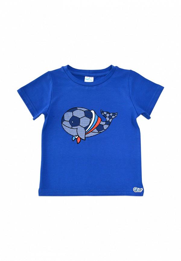 футболка с коротким рукавом кит малыши, синяя