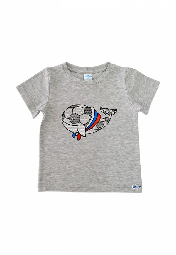 футболка с коротким рукавом кит малыши, серая